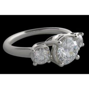 2.50 ct. Three stone diamond lucida ring diamonds